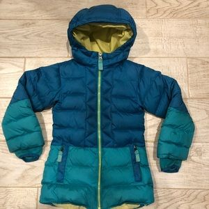 Lands End Hooded Down Puffer Coat, Ombré Colored